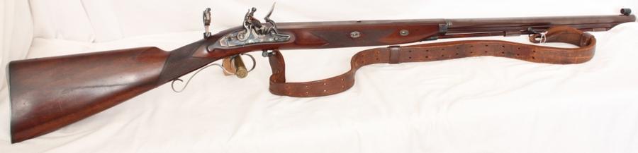 Pedersoli Mortimer target, flintlock, muzzle loading rifle, S/H. Calibre .54 Image