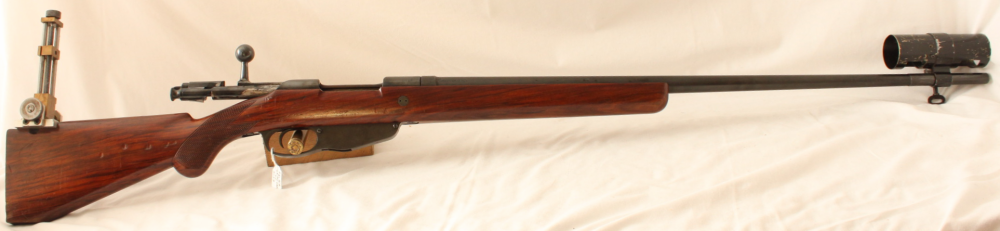 Hemburg Mannlicher action single shot recumbent Match rifle Image